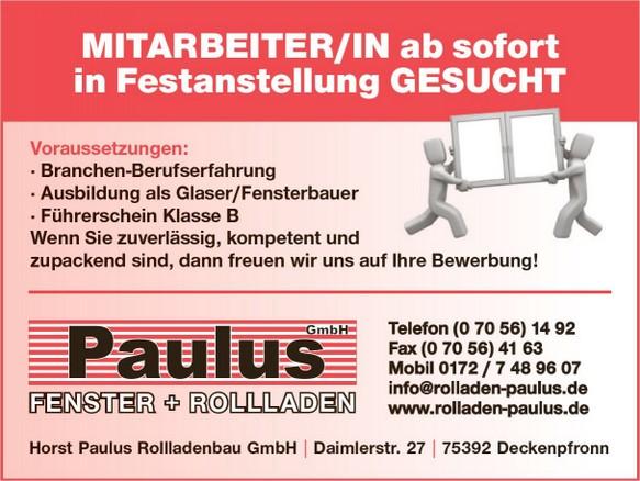 Freie Stellen - Rolladen_Paulus